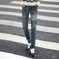 2016 Nuevos hombres de la Moda Coreana Apellido Viento Pantalones hombres Jeans Pantalones