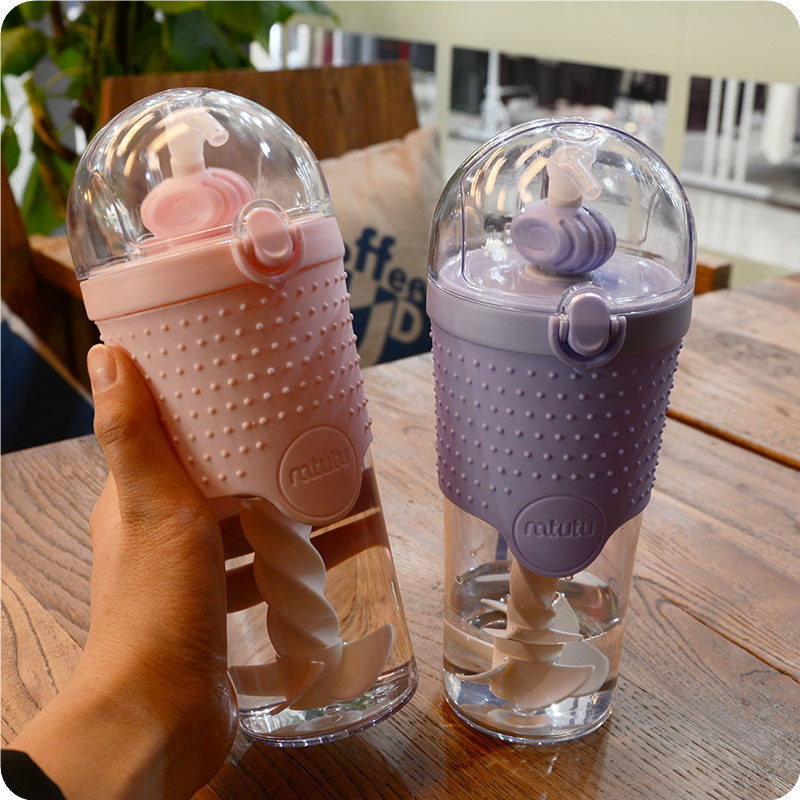 Nutrition Protein Shaker Milkshake Bottle 500ml Pacifier Grade PP with Easy-clean Spiral Straw Mixer Fitness Whey Protein Shaker