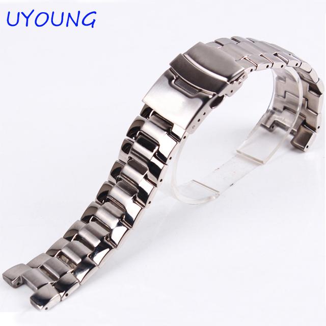Qualidade de aço inoxidável faixas de relógio de aço pulseira de 23mm de substituição para casio ef-534