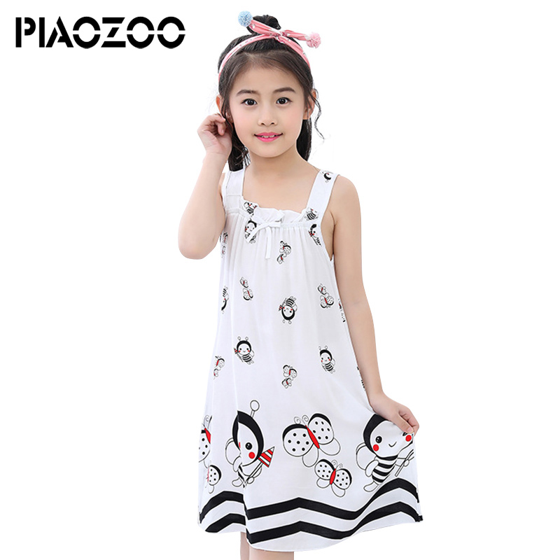 Girls Clothing Summer Kids Princess One-Piece Baby Girls Sleeveless Fashion Floral Casual Loose Dress vetement ete fille