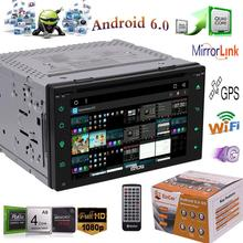6 2 Double 2Din Android 6 0 Car DVD Player font b Radio b font Stereo