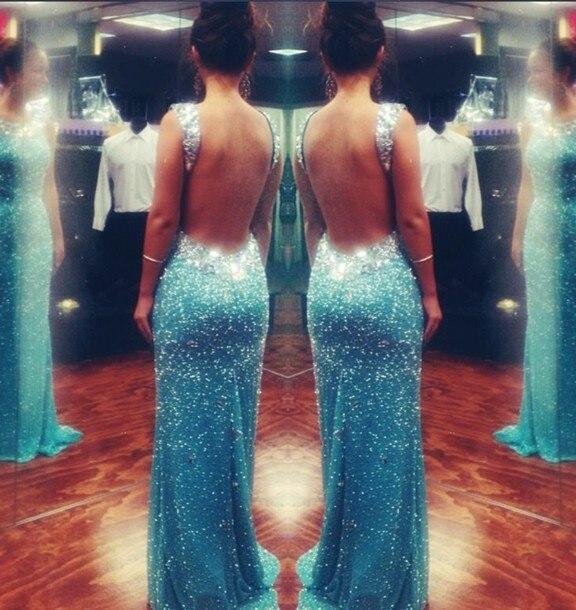 Low Price Sexy New Long   Prom     Dresses   High Neck Sleeveless Floor Length Mermaid Evening   Dress   2016 Vestido de festa
