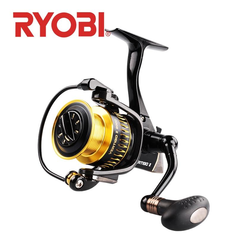 RYOBI VERTIGO II 6 1 spinning fishing reels 2000 3000 4000 6 1BB Gear Ratio 5