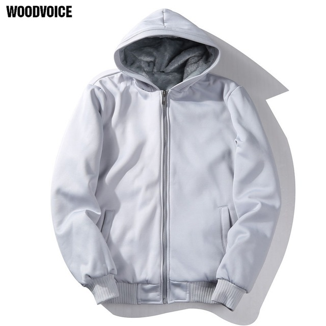Woodvoice Brand Males Hip Hop Hoodie Gray Black Jacket Men Clothes Fashion Hooded Hombre Best Selling Zipper Hoodie US/Euro Size