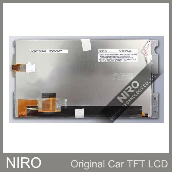 New Original Car Navigation Display Screen by LQ065T5GA02 w Touch Screen Digitizer Lens For Toyota Previa