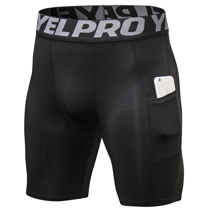 Short-Pants Clothing Joggers-Shorts Security-Pockets Fitness Leisure Gyms Quick-Drying