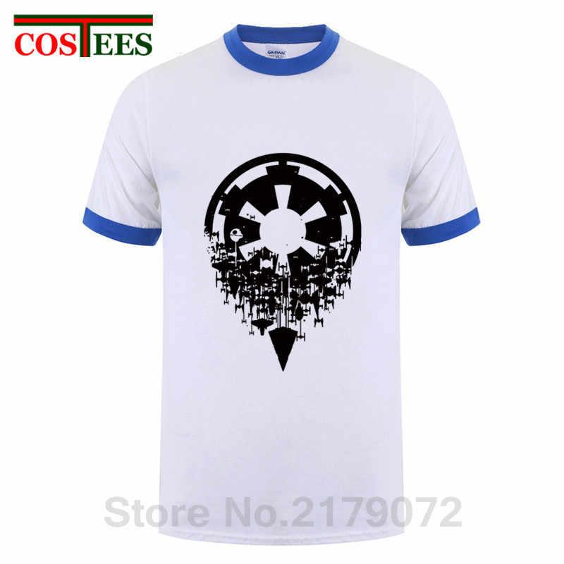 """Gwiazda złamania imperium T shirt mężczyźni wojny t-shirt z dekoltem w kształcie litery """"o"""" ostatni jedi koszulka bawełniana Darth Vader/Yoda czarna biała koszula"""