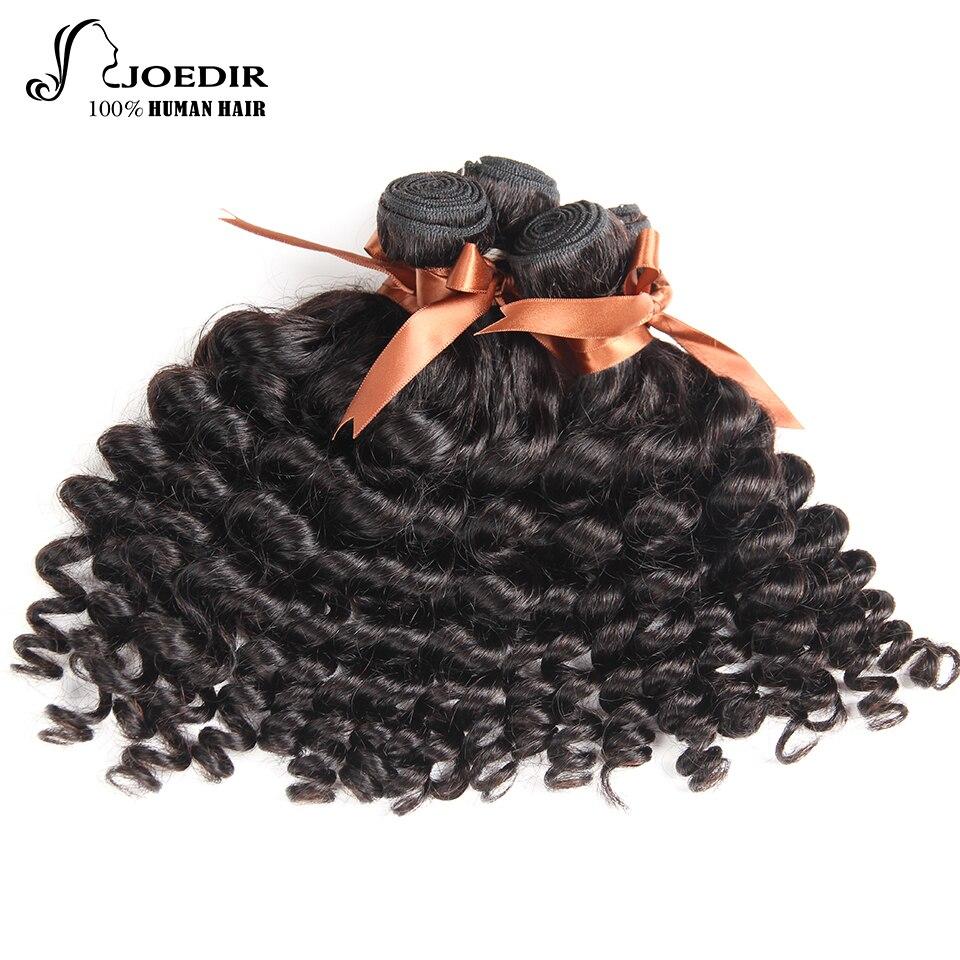 Joedir Funmi Curly Hair 3 Bundles Malaysian Non Remy Human Hair Weave Bundles Natural Color Hair Extensions Free Shipping