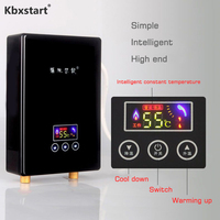 Kbxstart 6500W Instantaneous Electric Water Heater Kitchen Shower Intelligent Frequency Constant Temperature Water Heater 220V