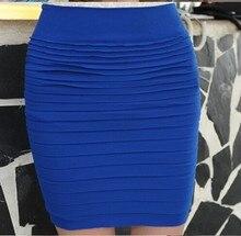 цены на Fashion Summer Sexy Lady Bodycon High Waist Straight Pencil Midi Skirt OL Women Slim Package Hip Fitted Career Fold Short Skirts  в интернет-магазинах