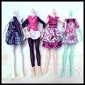 7 шт./лот Модная Одежда Для Monster High Куклы Платье Бальные Платья Vestidos Повседневная Одежда Для Монстр Куклы Детские Игрушки