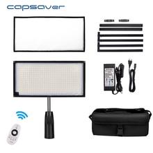 Capsave 30*60 см светодиодный видео Би-цвет 3200 К-5500 К 85 Вт 448 светодиодный с гибким фотографии освещения Студия лампа Панель удаленного Управление