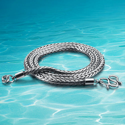925 thai silver necklace. Men snake chain. 3.5 mm wide jewelry tide restoring ancient ways male pendant necklace