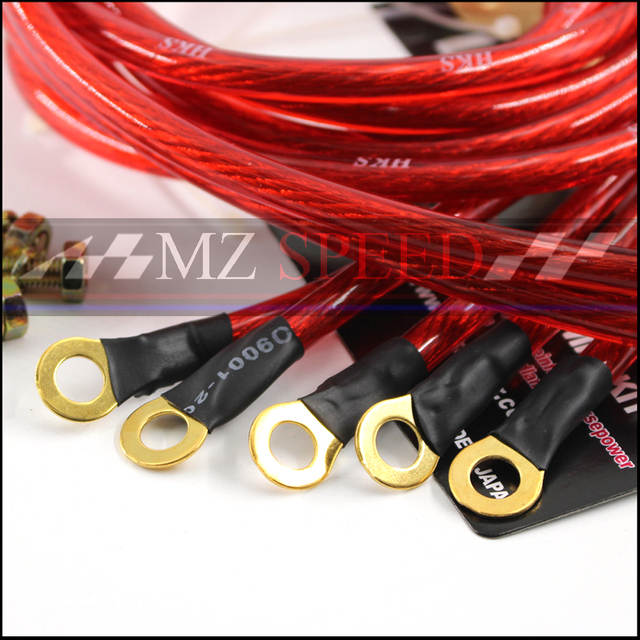 US $5 04 10% OFF|Car accessories Universal 5 Points Earth System Grounding  Ground Wire Cable Kit Auto High Performance Red purple on Aliexpress com |