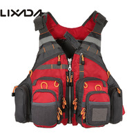 Lixada Professional Fishing Vest General Size Multi Function Adjustable Mesh Vest Outdoor Sports Fly Fishing Vest for Pesca