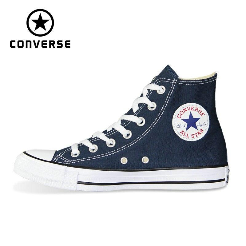 38c0a0b29 Nuevo Converse todos estrella Chuck Taylor zapatos originales de las  mujeres de los hombres zapatillas de deporte unisex de alta de lona zapatos  de skate ...