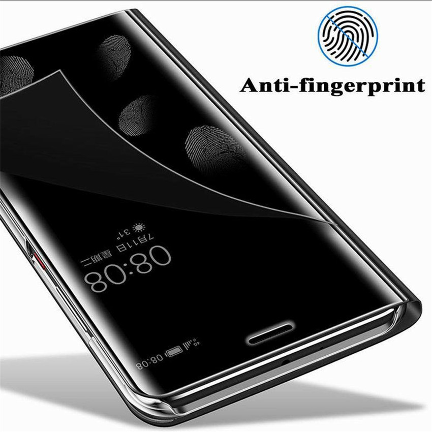 official photos 1f03b c7b09 Mirror Case For HUAWEI Honor 10 On Honor10 Smart Mirror Clear View Flip  Cover Phone Case For Huawei Honor 10 5.84