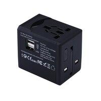 Universal Travel Adapter With Dual USB Charger Worldwide Electrical Socket US UK EU AU International Travel