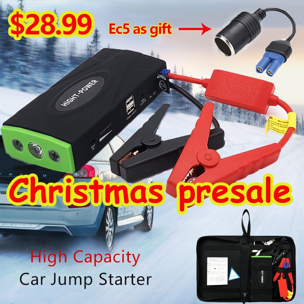 De alta potencia Multi-función de Auto jersey de arranque de emergencia cargador de coche de 12 V para la batería de refuerzo de Buster de dispositivo de arranque LED nuevo