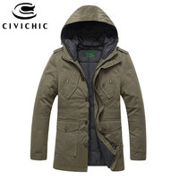 CIVICHIC Vintage Hooded Down Jacket Top Grade Thick Parka Men Winter Overcoats Eiderdown Outerwear Warm Jaqueta Daunenjacke DC05