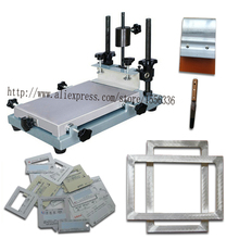 precision manual screen printer with aluminum screen frame
