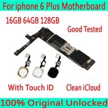 Материнская плата для iPhone 6 plus без сенсорного идентификатора/с сенсорным Идентификатором, оригинальная разблокированная материнская плата для iPhone 6 plus 16 Гб/64 Гб/128 ГБ