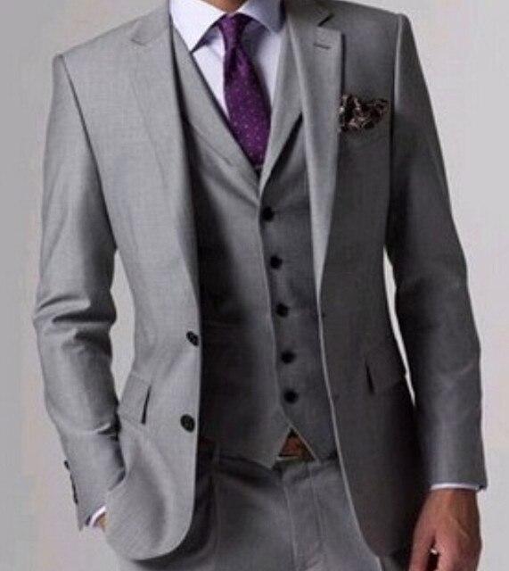 Online Shop custom made high quality 3 piece black men\'s suits ...