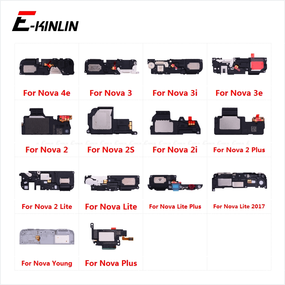 New Loudspeaker For HuaWei Nova 4e 3 3i 3e 2 2S 2i 2 Plus Lite 2017 Young Loud Speaker Buzzer Ringer Flex Replacement Parts