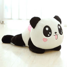цена на Cute Plush Doll Toy Stuffed Animal Panda Soft Pillow Cushion Bolster Gift 20cm
