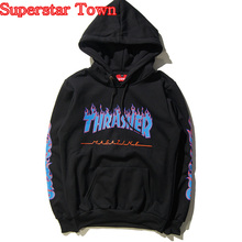 Vetements Hoodie Hip Hop Pullover Skateboard Thrasher Unisex Kpop Sweatshirts Harajuku Style Cool Sweatshirt Felpe Donna