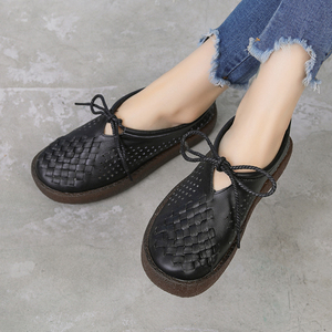 Image 4 - GKTINOO Women Flat Shoes Lace Up Moccasins Soft Genuine Leather Ladies Shoes Handmade Flats Hollow Casual Women Shoes