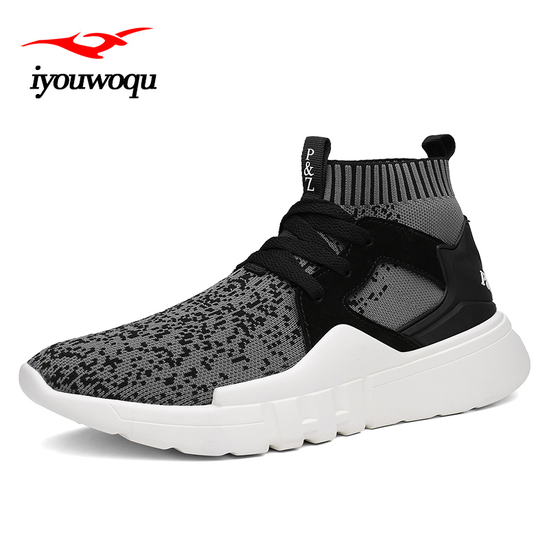 Classic Cool black Brand Design running shoes for men trend Socks sneakers men shoes Outdoor Sports fitness athletic shoes 7032 glowing sneakers usb charging shoes lights up colorful led kids luminous sneakers glowing sneakers black led shoes for boys