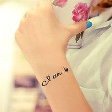 HC1039 Waterproof Fake Tattoo Stickers Women Sexy Chest Wrist Bracelets Flash Tattoo Letters Design Temporary Tattoos For Girls