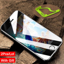 Protective Glass on the iPhone 5s Tempered Glass screen protector for iphone 5 5c SE ultra thin 0.3mm 9H hardness free shipping