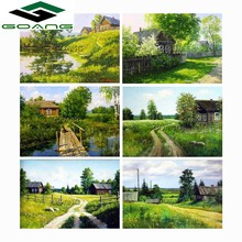 ФОТО 5d diy diamond painting cross stitch kits diamond embroidery full square diamond mosaic paintings natural landscape trees