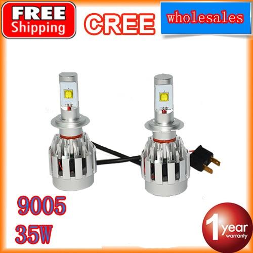 LED Headlight conversion kit 9005 hb3 led headlight led kit  white led fog light bulbs DC 12V 24V 4400LM free shipping