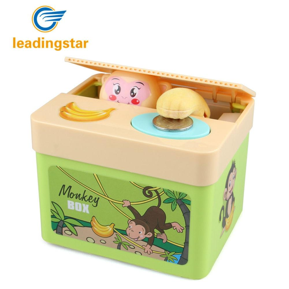LeadingStar Electronic Steal Money Animals Piggy Bank with Sound Cartoon Money Saving Pot As Gifts For Kids ZK30