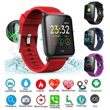 Q9 Smart Watch Blood Pressure Heart Rate Monitor IP67 Waterproof Sport  Fitness Trakcer Watch Men