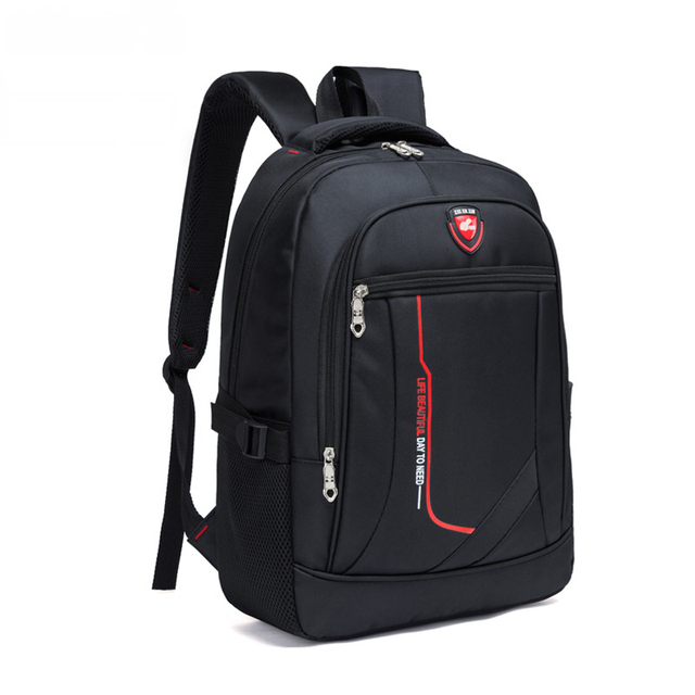 e57925447bc3 2018 New Men Multifunctional Large capacity Student Schoolbag Casual school  Backpack Fashion Male Travel Oxford Man s