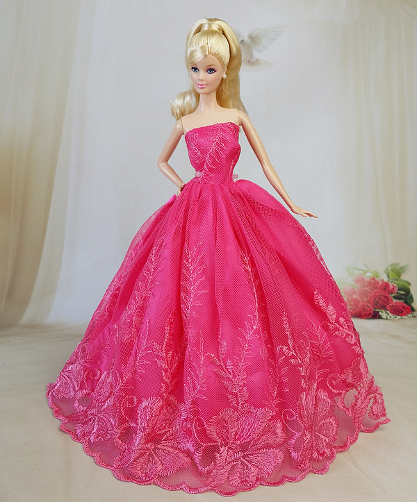 Buy nk one pcs 2016 princess wedding for Barbie wedding dresses for sale