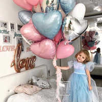 1 pcs 18inch Star and heart Balloons Inflatable Helium Balloon Valentine's Day Wedding Birthday Christmas Party Decor air bal
