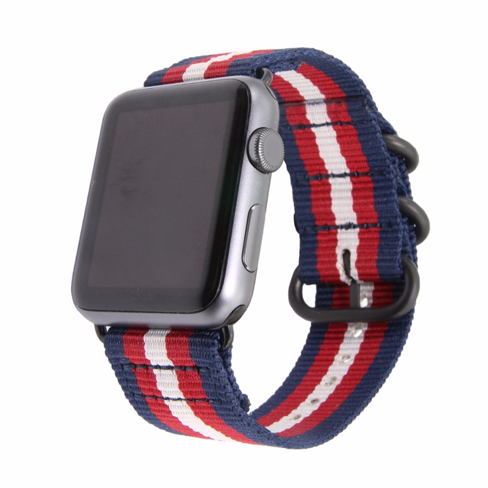 Apple watch 1 2 3 Generation Nylon Strap Apple Watch Apple Canvas Satin Strap in Watchbands from Watches