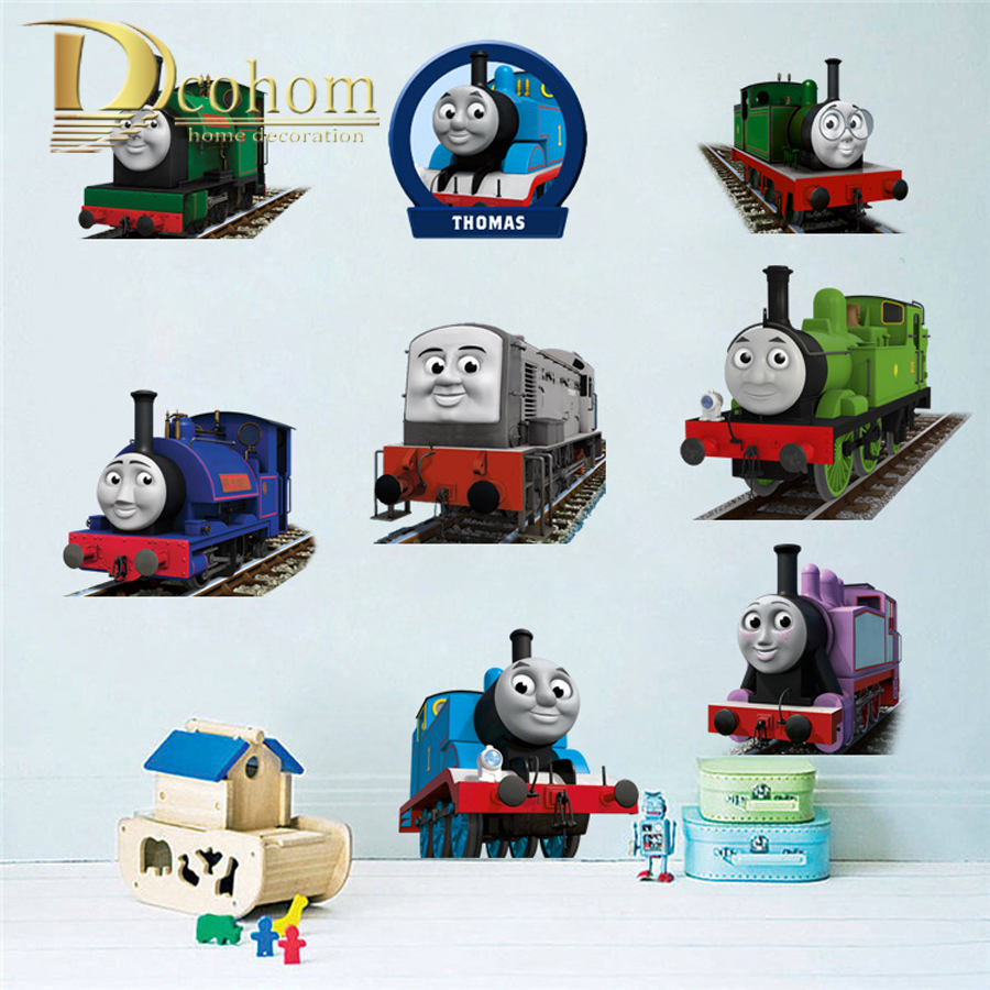 Thomas And The Tank Engine Nursery School Kids Room Decoration 3D Wall  Sticker DIY Vinyl Wall