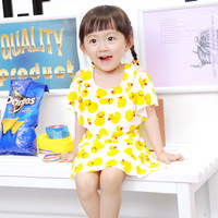 2017 Explosion New Children S Swimsuit Yellow Duck Baby Siamese Swimsuit Lotus Leaf Cute Swimsuit Belt