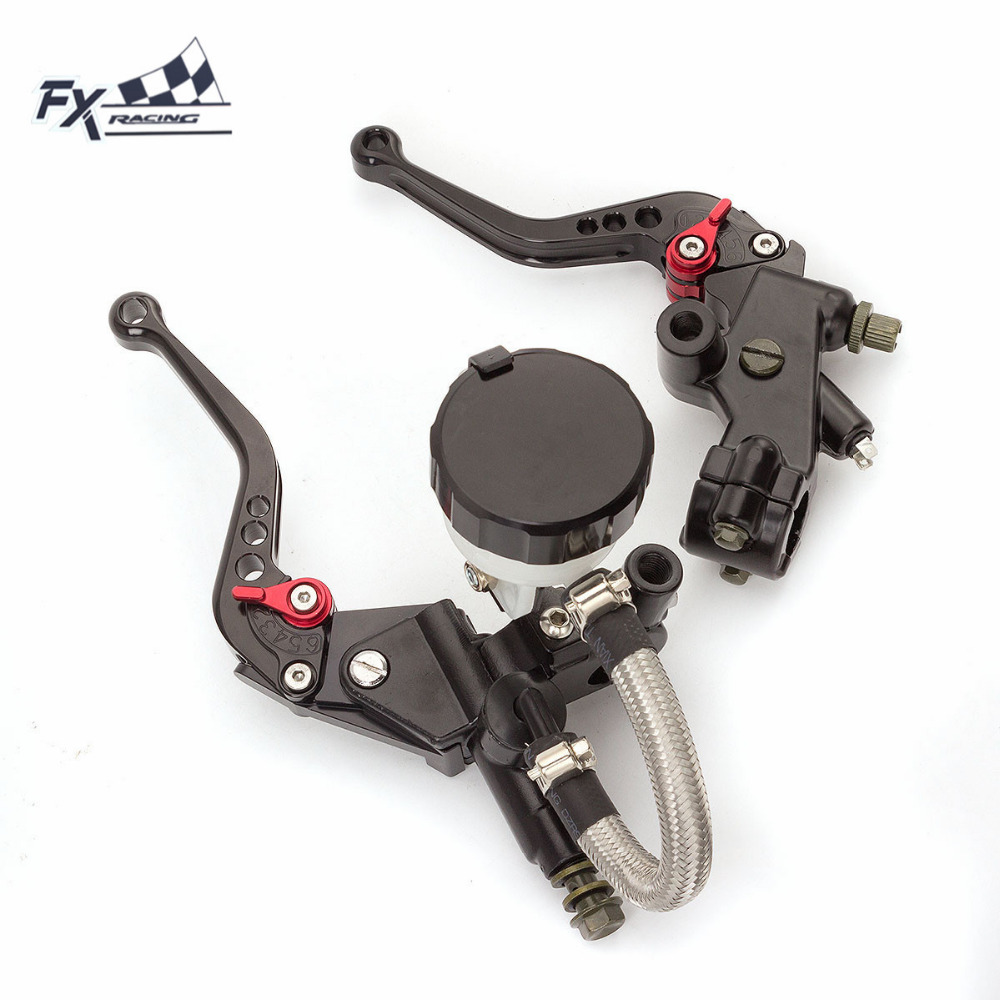7/8 Motorcycle Master Cylinder Reservoir Brake Clutch Lever For KTM Duke200 RC200 Duke125 RC125	 Duke 200 125 Hydraulic Brake 7 8 22mm brake master cylinder reservoir levers clutch set for ktm 200 duke rc200 125 300cc motorcycle black