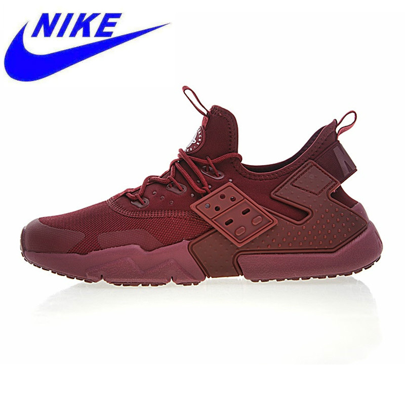 wholesale dealer c6b8f cac6e Original NIKE AIR HUARACHE DRIFT PRM Mens Running Shoes, Dark Red,  Wear-resistant Breathable Non-slip Lightweight AH7334 600
