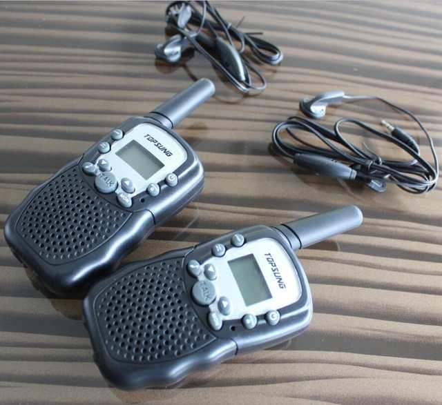 US $5 99 |New portable pair walkie talkies t388 radio walk talk FRS/GMRS 2  way radios transceiver transmitter 22CH w/ flashlight-in Walkie Talkie from