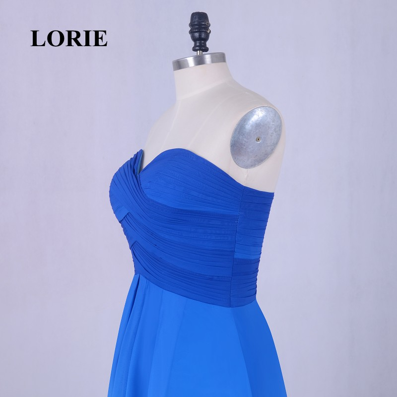 LORIE Short Homecoming Dress Gradual Sweetheart Pleats A-Line Chiffon Short Mini Prom Dress Blue Party Gown Free Shipping 2017