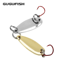 GUGUFISH 1PCS 1.3g/2g Gold Sliver Fishing Lures Wobbler Spinner Baits Spoons Synthetic Bass Onerous Sequin Paillette Metallic Deal with