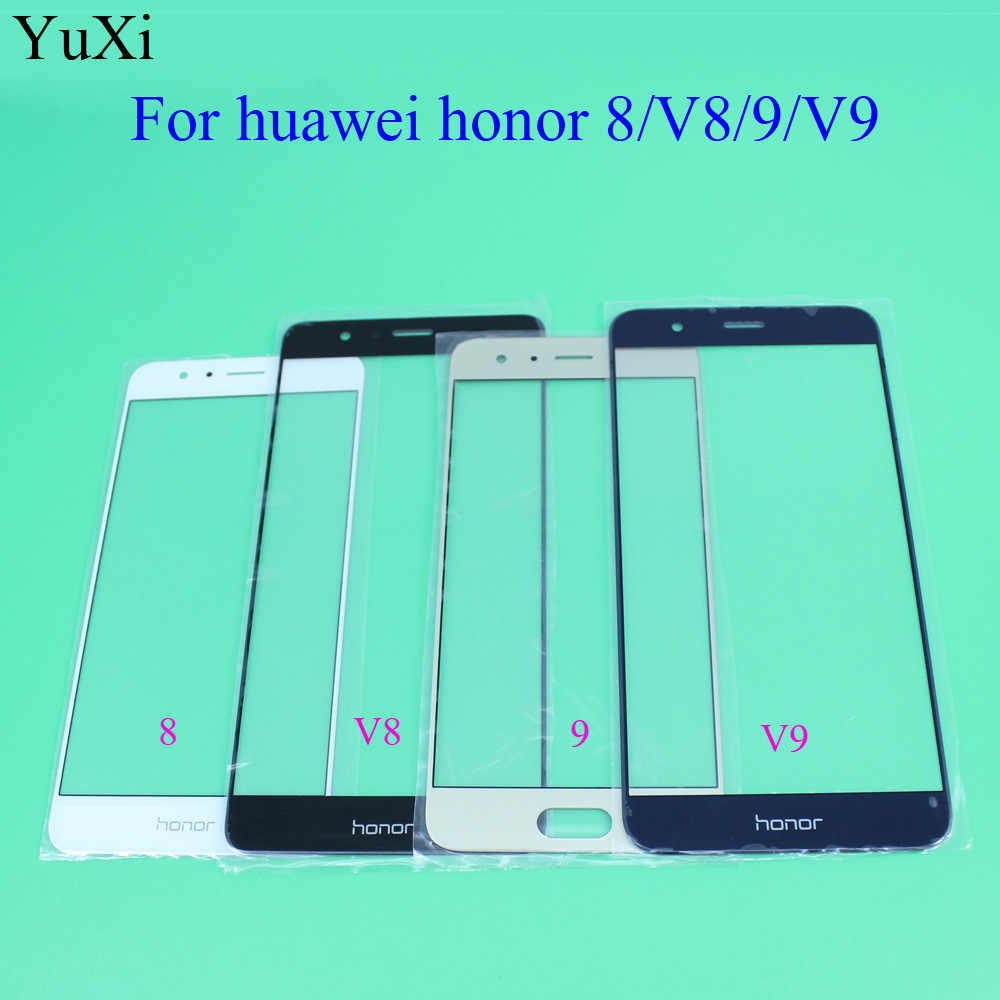 YuXi Touch Panel Für Huawei Honor 8 V8 9 v9 touchscreen Ersatz Front Outer Glaslinse Keine LCD Digitizer